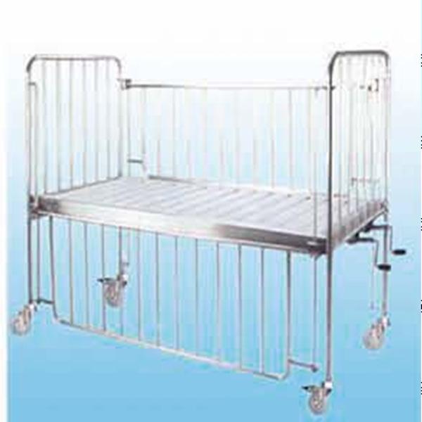 不锈钢双摇儿童床_儿童床